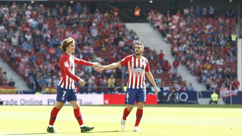 El Atlético gana y obliga al Barcelona a vencer al Levante - atlético valladolid
