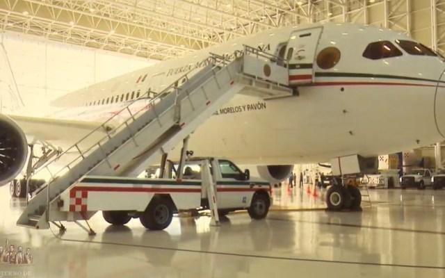 """AMLO rechaza que sea """"ocurrencia"""" propuesta de rifar avión presidencial - Avión Presidencial José Ma. Morelos y Pavón. Captura de pantalla"""