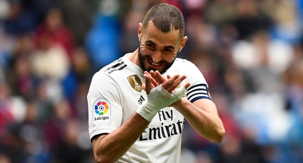 Real Madrid vence al Eibar con voltereta - El gol de la victoria (2-1) del Madrid llegó en el 81, con un remate de cabeza de Benzema a centro de Toni Kroos. Foto de AFP
