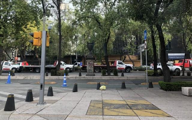 Manifestantes bloquean carriles centrales de Paseo de la Reforma - bloqueos paseo de la reforma