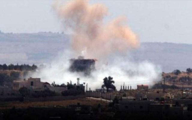 ONU critica silencio de comunidad internacional por bombardeos en Siria - Bombardeos aéreos en Siria. Foto de Syriahr