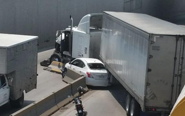 Choque múltiple en Veracruz deja 10 personas lesionadas - Foto de @Inoceencio