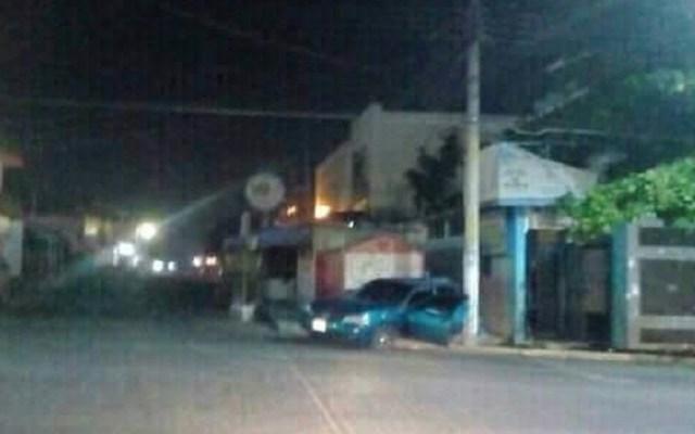 Asesinan a paciente en hospital del IMSS de Matías Romero - Choque del auto de Javier. Foto de @criatura82