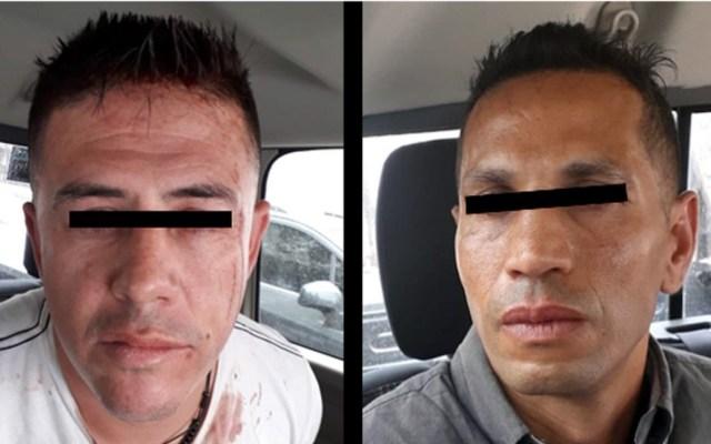 Detienen en Edomex a presuntos miembros de banda de asaltantes de Tepito - Detenidos por robo con violencia a mujer en Huixquilucan. Foto de SSEM
