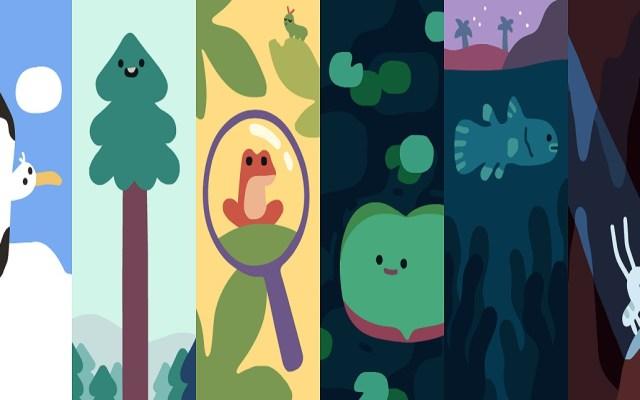 Doodle celebra el Día de la Tierra con seis asombrosas especies - Especies animales en doodle. Foto de Google