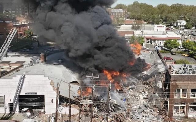 Un muerto y 17 heridos por explosión de gas en Carolina del Norte - Foto de Twitter