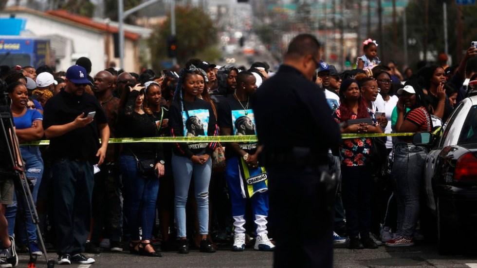Tiroteo en funeral de Nipsey Hussle deja un muerto y tres heridos - Foto de AFP