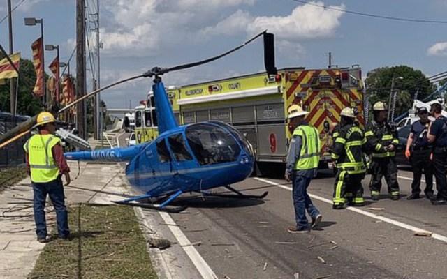 #Video Helicóptero se estrella y mata a hombre en carretera de Florida - helióptero se estrella y mata a hombre en Florida