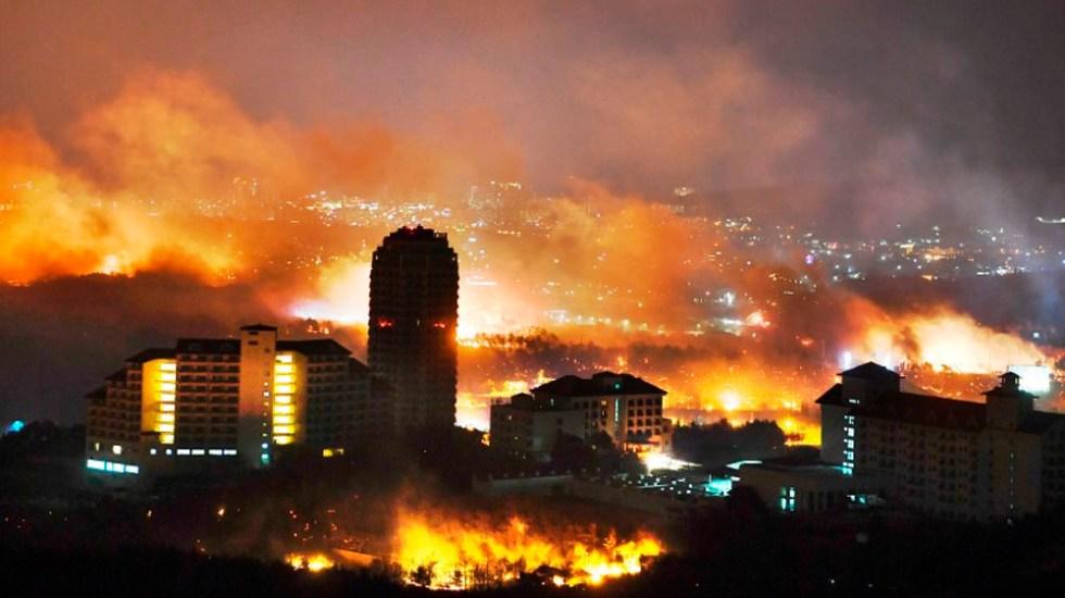 Resultado de imagen para incendio en Sokcho