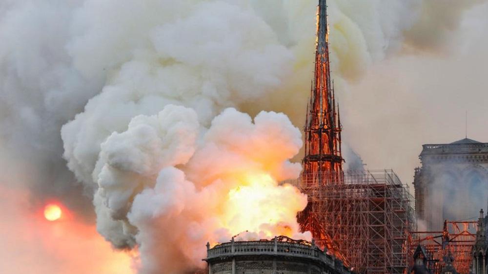 Incendio en Notre-Dame. Foto de AFP / Francois Guillot