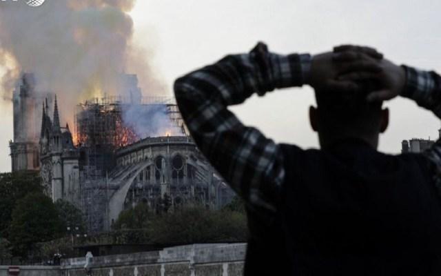 Macron comparte el 'dolor de toda una nación' por incendio de Notre-Dame - Foto de AFP / Geoffroy Van Der Hasselt
