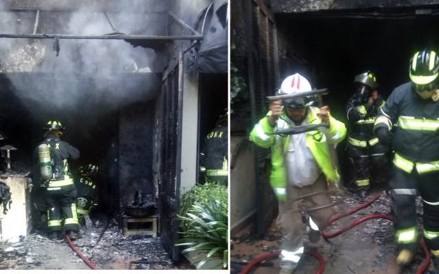 Controlan incendio en vivienda de Lomas de Chapultepec - Foto de @MHDEProtCivil