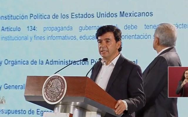 AMLO pide a medios reducir sus tarifas publicitarias - Vocero Jesús Ramírez en conferencia de prensa de AMLO. Captura de pantalla