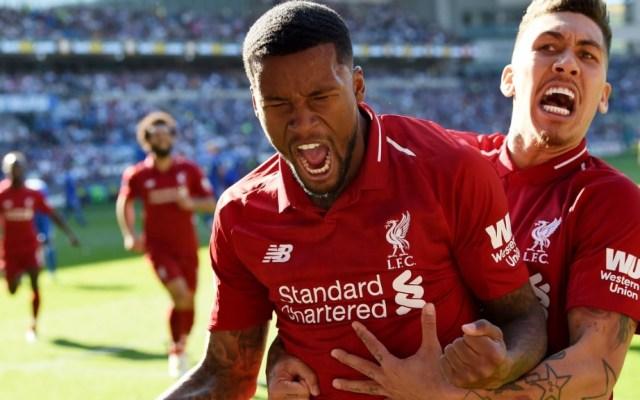 Liverpool regresa al liderato de la Premier League tras vencer al Cardiff - Georginio Wijnaldum celebra el gol que anotó contra el Cardiff. Foto de @LFC