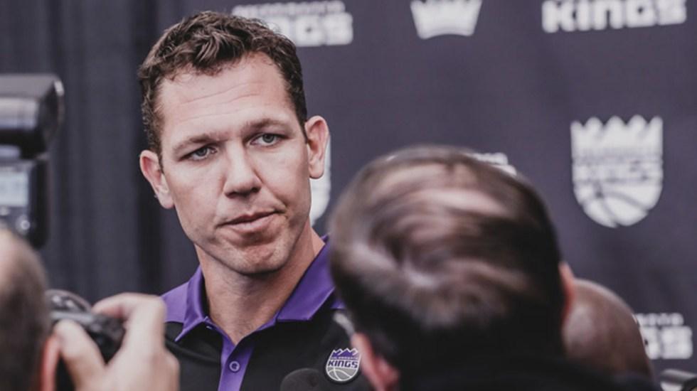 Exentrenador de los Lakers acusado de abuso sexual - Luke Walton. Foto de Sacramento Kings
