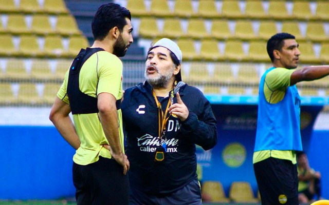 """Maradona afirma estar """"a muerte"""" con Dorados - Foto de @Dorados"""