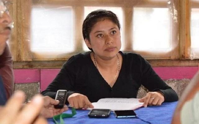 Ofrecieron 300 mil pesos a alcaldesa de Mixtla para renunciar y no matarla - Maricela Vallejo Orea. Foto de NODAL