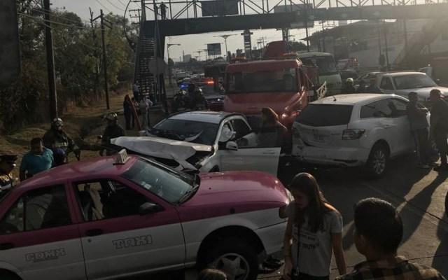 Accidente múltiple en la México-Toluca deja al menos 12 lesionados - México-Toluca accidente lesionados