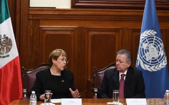 Michelle Bachelet dialoga sobre derechos humanos con Arturo Zaldívar - Michelle Bachelet con Arturo Zaldívar. Foto de @SCJN