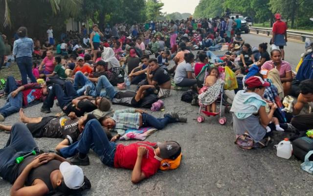 Se suman cubanos a caravana migrante en Chiapas - Foto de Quadratín