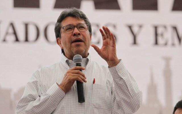 Reforma Laboral abre las puertas al sindicalismo democrático: Monreal - Ricardo Monreal en el VII Congreso Estatal Ordinario del CATEM. Foto de Notimex