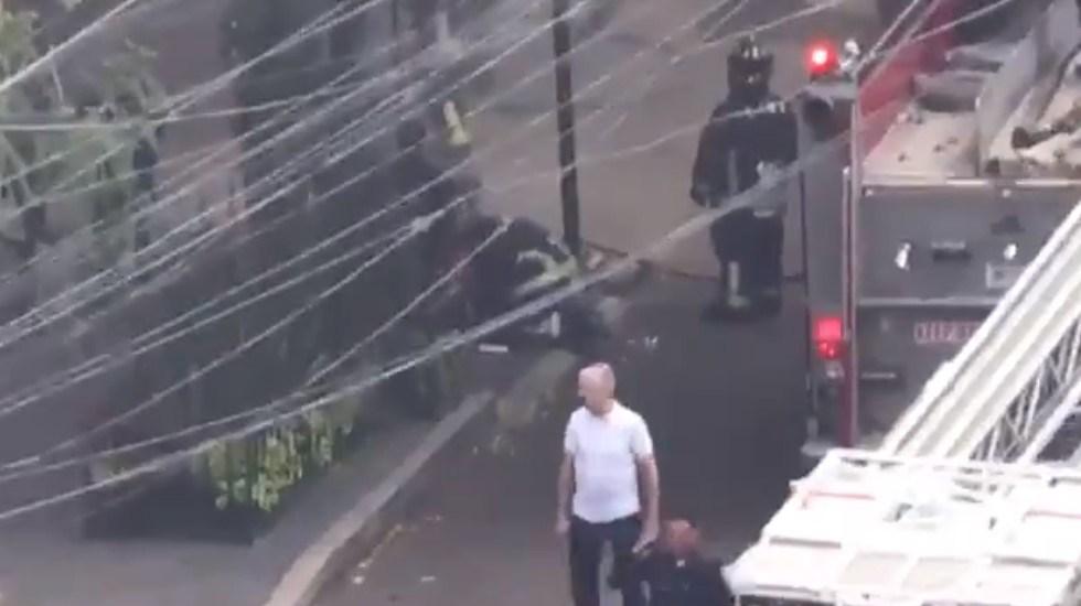 #Video Rescatan a mujer de incendio en colonia Cuauhtémoc - Captura de pantalla