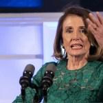 Nancy Pelosi rechaza peticiones de juicio político contra Trump - La presidenta de la Cámara de Representantes de EE. UU., Nancy Pelosi, habla en una recepción para la Delegación del Congreso de los EE. UU. organizada por el Primer Ministro irlandés, Leo Varadkar, en los apartamentos estatales, en el Castillo de Dublín el 17 de abril de 2019. Foto de Iain White/POOL/AFP