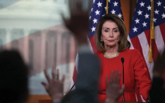 Cámara de Representantes bloquearía recursos para el muro: Pelosi - Foto de AFP