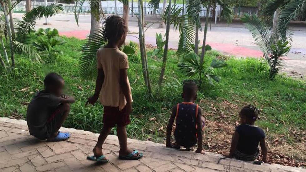 Niños migrantes en Chiapas. Foto de @INAMI_mx