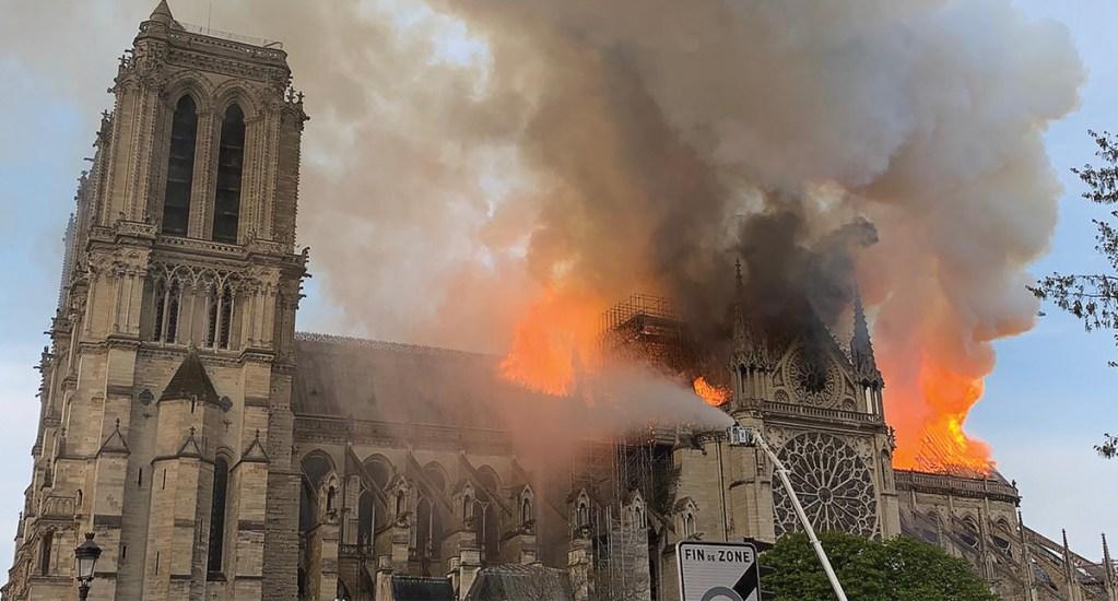 Pérdida total, techo de Notre-Dame - Foto de AFP