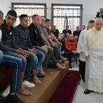 Papa Francisco lava los pies de 12 detenidos - Foto de Vatican News