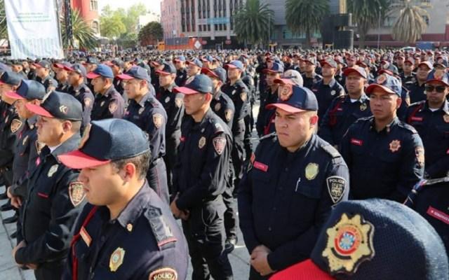 Casi 11 mil policías reguardan la Ciudad de México en Semana Santa - Policías de la Ciudad de México. Foto de @PoliciaCDMX