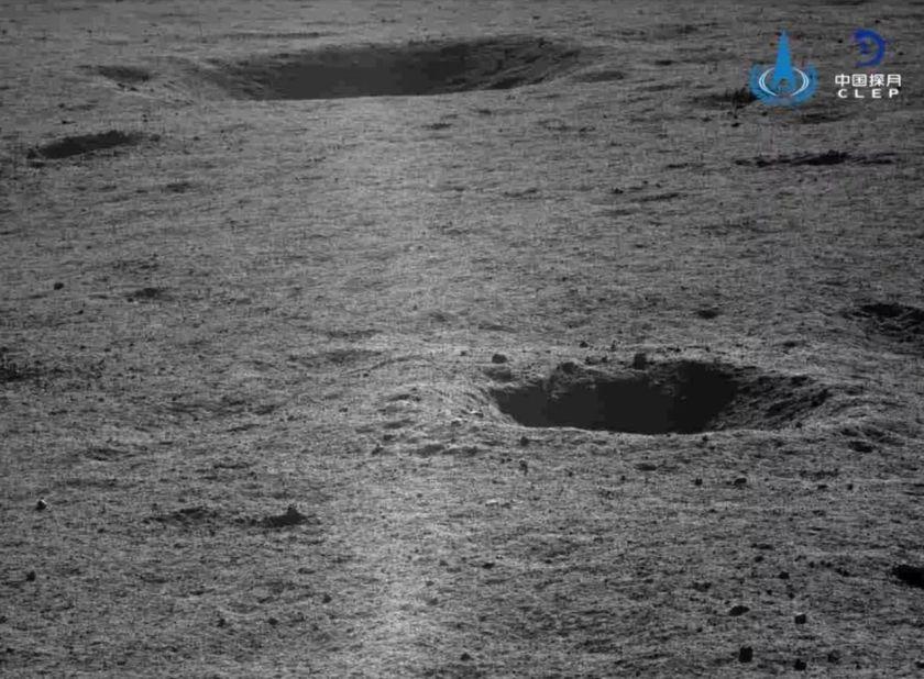 Recorrido del rover en el cráter. Foto de CLEP / CNSA