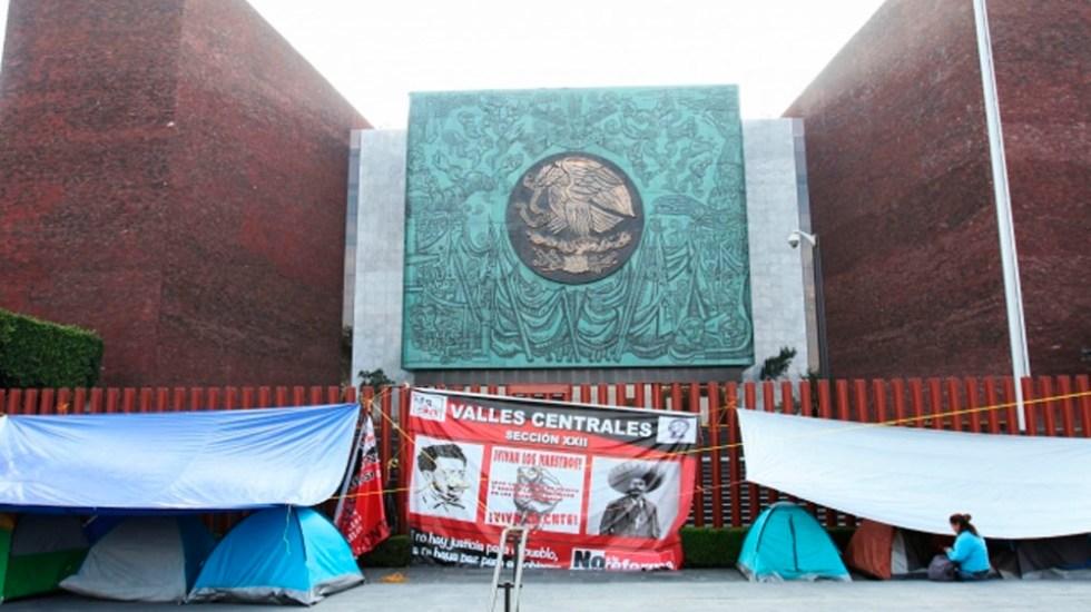 CNTE marchará del Zócalo a la Cámara de Diputados - Foto de Notimex