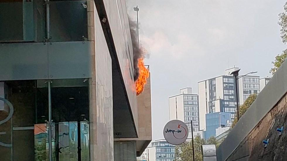 Incendio en Sport City Interlomas - Foto de @58Atm.