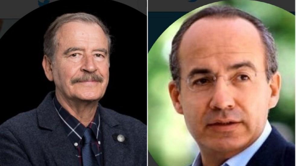 Seguridad de Fox y Calderón tendrá costo mínimo, señala AMLO - Vicente Fox y Felipe Calderón. Foto de @VicenteFoxQue y @FelipeCalderon / LDD