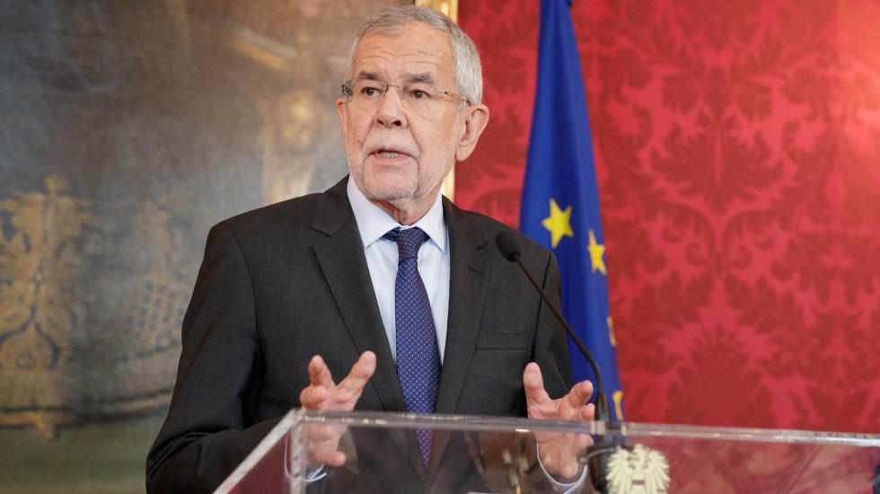 Escándalo de corrupción deriva en elecciones anticipadas en Austria - Alexander Van der Bellen, presidente de Austria. Foto de @vanderbellen