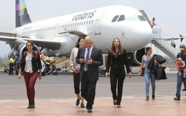 Vuelo de AMLO sufre incidente durante aterrizaje en Tepic - AMLO Andrés Manuel López Obrador Tepic Nayarit