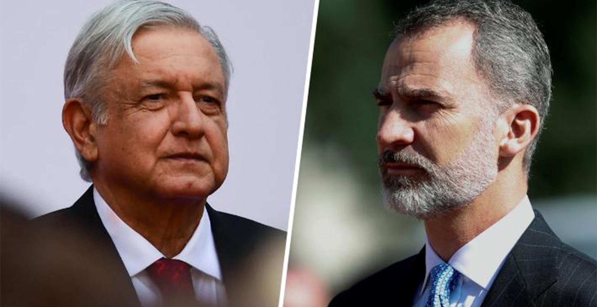 AMLO hara publicas cartas de rey de Espana y de Calderon