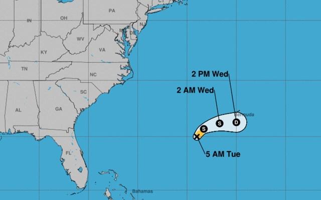 'Andrea' se degrada a depresión subtropical - Foto de NHC.