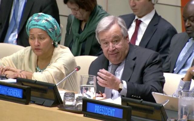 Celebra secretario general de ONU que PND contemple objetivos de la Agenda 2030 - Foto de captura de pantalla