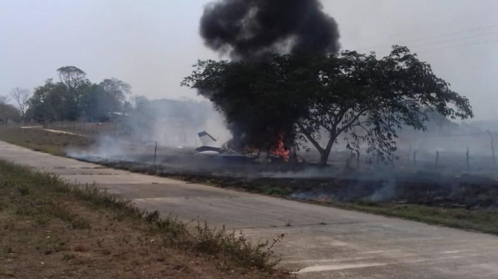 Se desploma avión pequeño en Veracruz - Foto de @pablojair