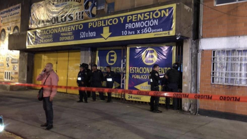 Balacera en la Doctores deja dos muertos - Foto de @OficialEnLaMira