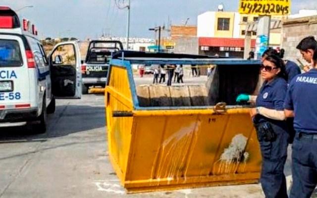 Hallan cadáver de bebé en contenedor de basura en Aguascalientes - Hallan cadáver bebé basura aguascalientes