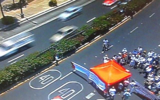 Pacientes con VIH liberan Paseo de la Reforma - Los pacientes con VIH liberaron Paseo de la Reforma tras cuatro horas. Foto de @OVIALCDMX