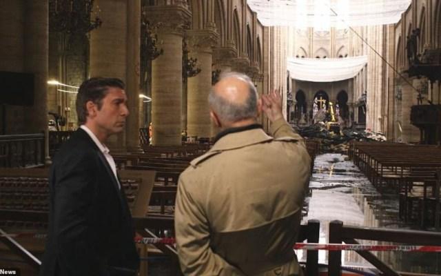 Imágenes del interior de la catedral de Notre-Dame - imágenes tras el incendio catedral de notre dame