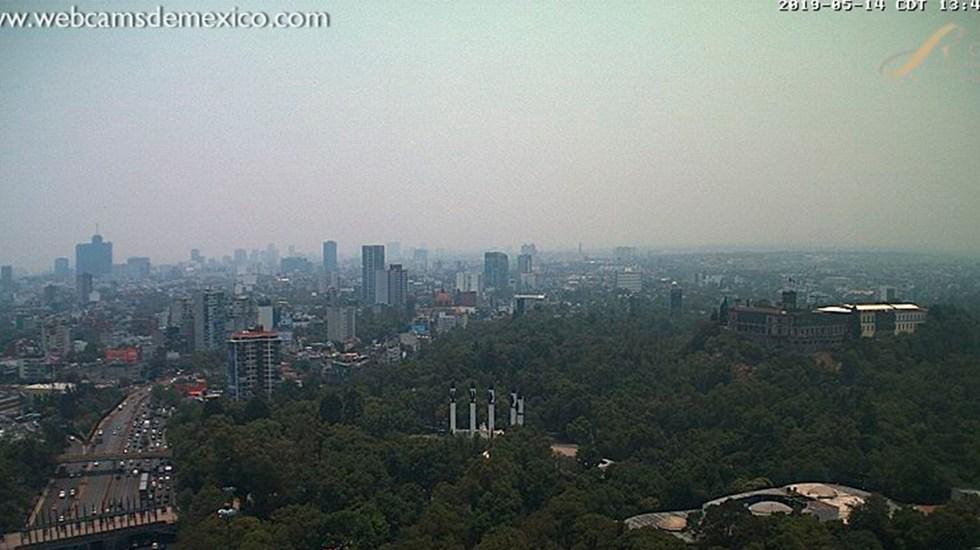 Empeora calidad del aire en Valle de México - Imagen de Chapultepec por webcamsdemexico.