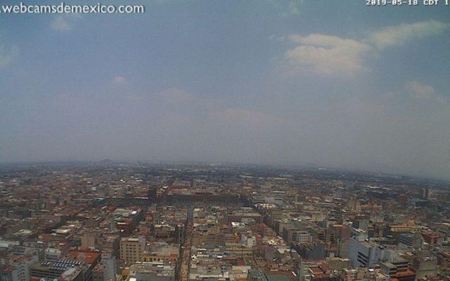 Gustavo A. Madero con la peor calidad del aire - Vista del Zócalo desde la Torre Latinoamericana. Foto de webcamsdemexico
