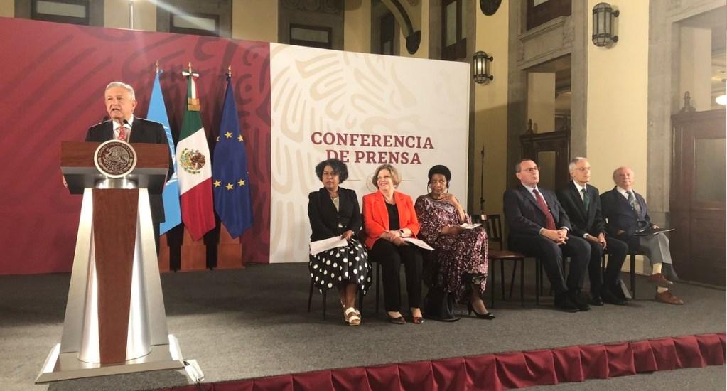 México-ONU-CE destinarán 11.8 mdd contra el feminicidio en tres estados - Conferencia de la iniciativa Spotlight. Foto de @crisballinas