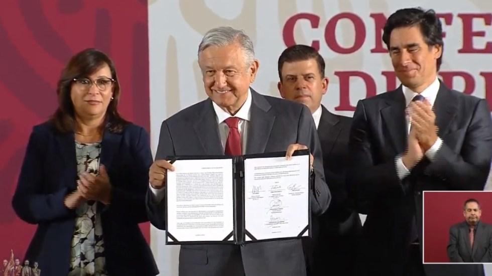 Amplían fondo revolvente para Pemex por ocho mmdd - Convenio del Gobierno Federal para Pemex. Captura de pantalla